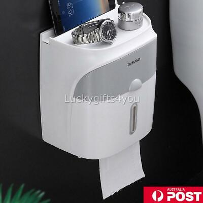 AU18.99 • Buy Toilet Paper Double Roll Holder Tissue Bathroom Storage Hook Shelf Wall Mounted