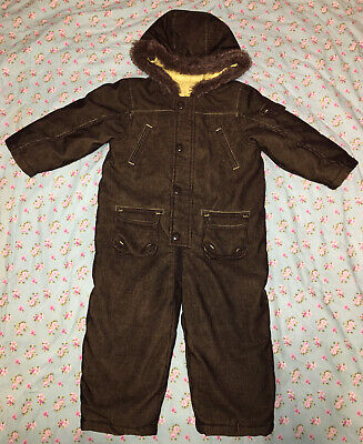£25 • Buy Mothercare Corduroy Warm Padded Snowsuit Pram Suit All In One Size 24-36 Months