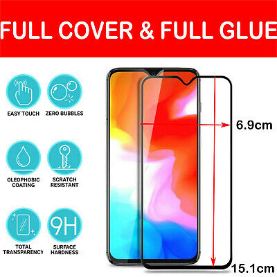 AU6.44 • Buy Tempered Glass Screen Protector For Oneplus 7 6 5 3T Full Coverage Full Glue