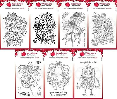 £7.25 • Buy Woodware Clear Stamps - Flowers Or Fuzzy By Francoise Read - Creative Expression