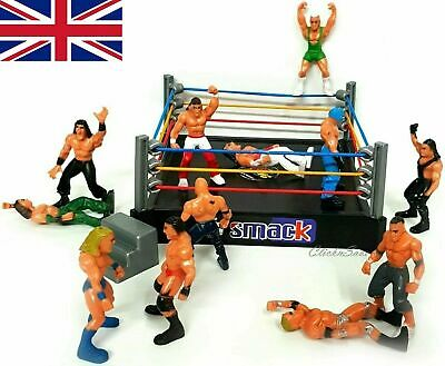 £8.39 • Buy Wrestling Ring Playset With 12pc WWE Fighter Figure Action Model Toy Kids Gift