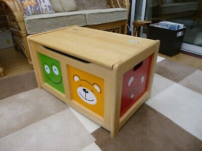Toy Chest In Light Wood Kids Toy Storage • 20£