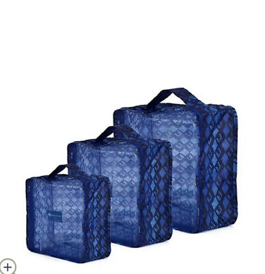 £18.99 • Buy The Camouflage Company Set Of 3 Chic Travel Organisers Brand New Blue Jeans