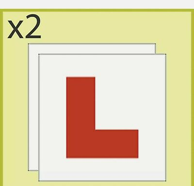 2 X MAGNETIC L PLATES  Quick Easy To Fix Learner Sign • 1.85£