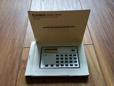£20 • Buy CASIO LC-78 Credit Card Sized Calculator.In Very Good Condition.With Manual (S3)
