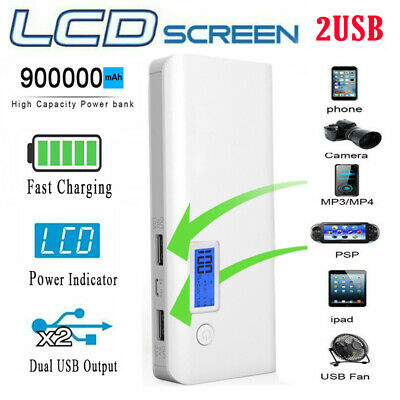 £11.58 • Buy 900000mAh Mini Power Bank Charger Battery Pack Portable 2USB For Mobile Phone UK