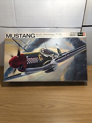 Vintage Revell 1/32 North American P-51B Mustang Vintage Kit H-295 1969 • 24.99£