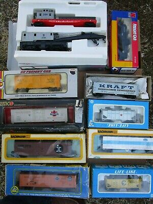 $ CDN40.56 • Buy Ho Scale Train Freight Car Lot Of 10 Total Pieces Used  1/87