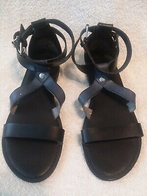 £8.38 • Buy American Eagle Outfitters Sanders,Flip Flop Shoes Women Leather Black Size 8