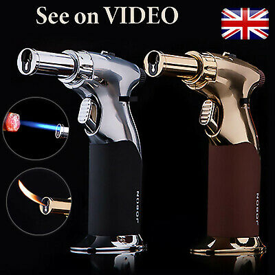 £16.99 • Buy Blow Torch Lighter Mini Jet Flame Cigarette Cooking BBQ Chef Butane Gas Gift Box