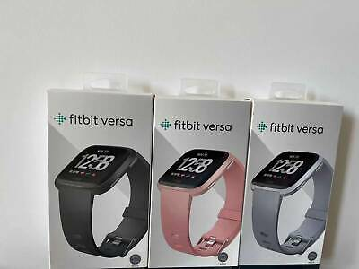 $ CDN81.45 • Buy Fitbit Versa Smartwatch Fitness Activity Tracker Black Gold Silver Charcoal New