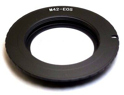 $12.49 • Buy M42 Pentax Screw Metal Lens To Canon EOS EF Camera Mount Adapter Ring EF-S T7i