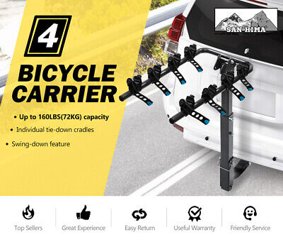 AU141.99 • Buy 4 Bicycle Carrier Bike Car Rear Rack 2 Inch Towbar Steel Foldable Hitch Mount