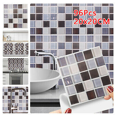 £8.59 • Buy 96x Kitchen Tile Stickers Bathroom Mosaic Sticker Self-adhesive Wall Home Decor