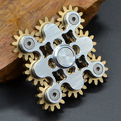 AU32.23 • Buy Hand Spinner Gears Linkage Design Fidget Gyro Toy Metal Fidget Spins Long Time 9