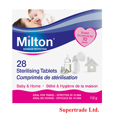 £3.65 • Buy Milton Sterilising Tablets Baby Bottles Teats Spoons Soothers 28 Tablets (112g)