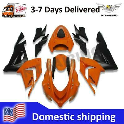 $469.99 • Buy CO Injection Orange Black ABS Fairing Fit For Kawasaki 2004 2005 ZX-10R A032