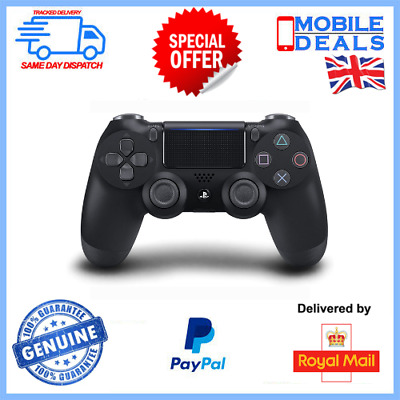 Official Sony PlayStation DualShock PS4 Controller - Black • 54.99£