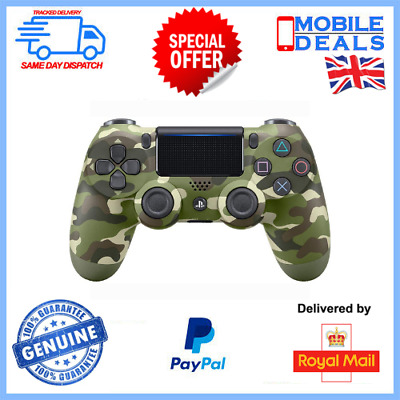 Official Sony PlayStation DualShock PS4 Controller - Green Camouflage • 59.99£