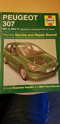Peugeot 307 2001 To 2004 Haynes Service And Repair Manual • 5£