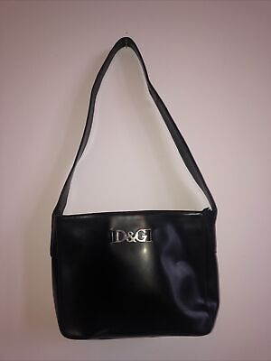 VINTAGE 90s/00s D&G Dolce And Gabbana Handbag RARE Leather Authentic • 19£