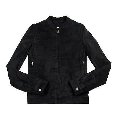 NWT $2725 Rick Owens Black Blistered Suede Lamb Leather Racer Cafe Jacket 36 F17 • 76.47£