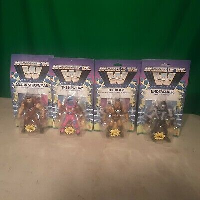 $179.99 • Buy Masters Of The WWE Universe Set Wave 3 The Rock Undertaker New Day Strowman