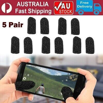 AU12.89 • Buy 5 Pair Game Controller Mobile Finger Sleeve Sweat Proof Gaming Finger Gloves AU