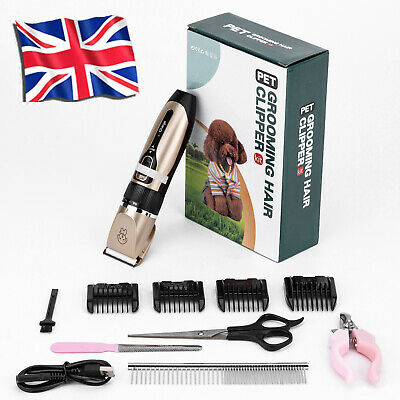£7.99 • Buy Electric Cordless Pet Dog Shaver Grooming Quiet Clippers Trimmer Scissors Kits