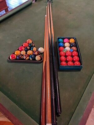 AU450 • Buy 8 Foot Australian Made Ace Slate Billiard Pool Table With All Accessories Cues