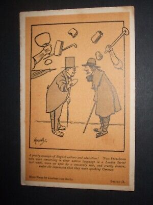 Hassall Comic Anti Germany Frenchmen Attacked In London Thought Talking German • 3.40£