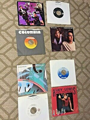 AU7.80 • Buy Rare Lot CLASSIC ROCK 7  Singles Vinyl 45's And Some Picture Sleeves