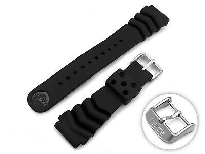 £14.95 • Buy For SEIKO Watch Strap Band Bracelet Silicone Rubber BLACK Buckle Clasp Prospex