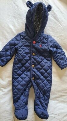 Baby Boy Joules Pramsuit/ Snowsuit All In One 0-3 • 5£