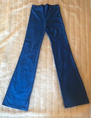 """£7.99 • Buy NWOT Girls Jazz Pants Age 12 -13 Approx Blue High Waisted Flared W28"""" L 30"""""""