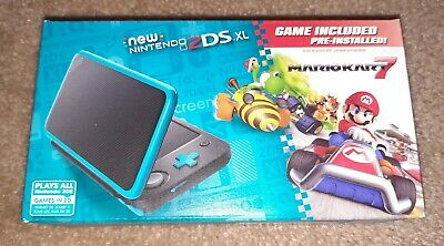 AU380.41 • Buy New Nintendo 2DS XL Console W/ Mario Kart 7 Pre-installed Black/Turquoise