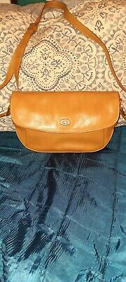 THE BRIDGE SMALL LEATHER SHOULDER BAG QUALITY ITEM LADIES  LENGTH 12  X  7  TALL • 40£