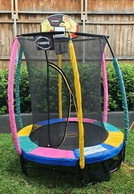 AU70 • Buy Kahuna 6ft Trampoline With Basketball Hoop And Rainbow Safety Pad.
