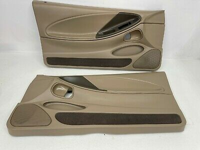 $180 • Buy 1999-2004 OEM Ford Mustang Tan Front Door Panels Medium Parchment Mach460 |T273