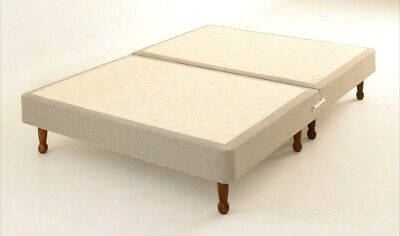£159 • Buy Low Shallow Fabric Divan Bed Base On Legs 3ft, 4ft 4'6ft 5ft & 6ft Many Colours