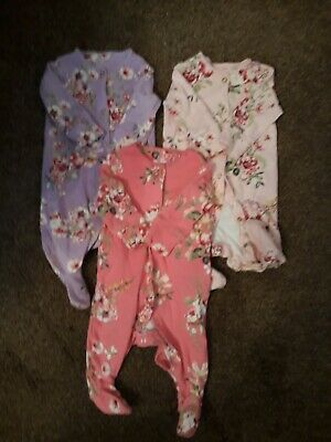 AU5.34 • Buy NEXT Baby Girls Clothes Sleepsuit Bundle 0-3 Months