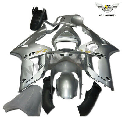 $559.99 • Buy CO Fairing Kit Fit For Kawasaki 2003 2004 636 ZX-6R Injection ABS Silver M027
