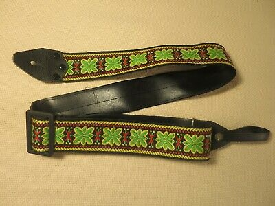 $ CDN61.41 • Buy Vintage Hippie Embroidered Woven ACE Style Guitar Strap, Japan, Circa1980s
