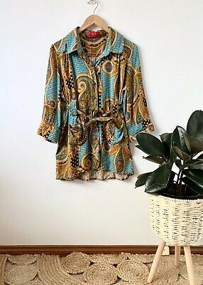 AU35 • Buy TIGERLILY Paisley Floral Belted Shirt / Overshirt Sz 12 | Ex Cond