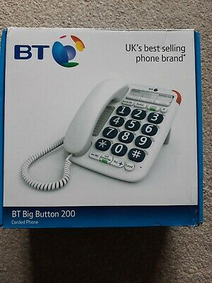 Bt Big Button 200 Corded Telephone White • 5£