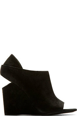 AU149 • Buy Alexander Wang Cutout-heel Suede Wedge Ankle Boots Size 40
