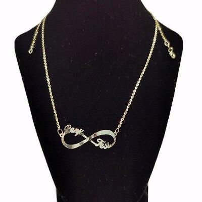 AU420 • Buy Genuine Gold Infinity Name Necklace