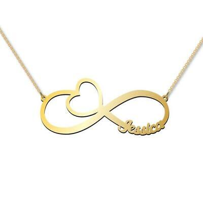 AU165 • Buy Infinity One Name Necklace Solid Genuine Gold Stamped
