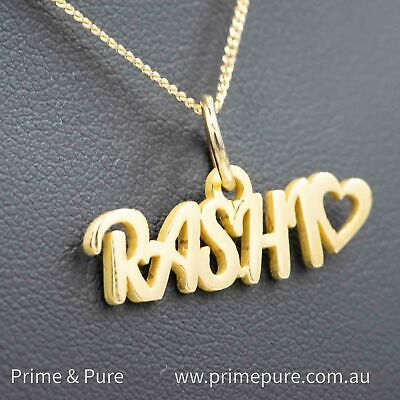 AU169 • Buy Solid Gold Name Pendant Made In Australia Personalised