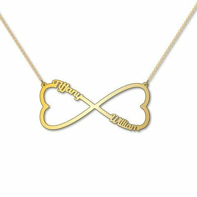 AU150 • Buy Heart Infinity Two Name Necklace